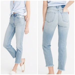 Natural High Rise Ankle Straight Zoe Jeans